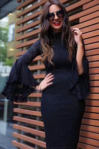 Granatowa sukienka IVET.PL