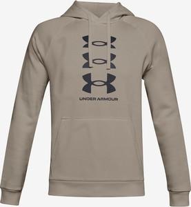 Brązowa bluza Under Armour w sportowym stylu z bawełny