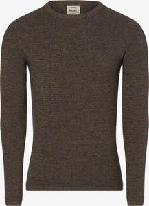 Brązowy sweter Redefined Rebel z dzianiny w stylu casual