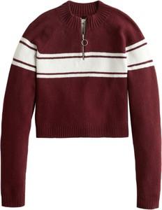 Czerwony sweter Hollister Co. z dzianiny