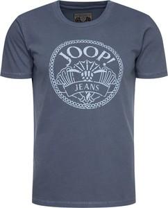 Granatowy t-shirt Joop! Jeans z krótkim rękawem