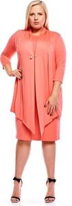 Różowa sukienka Fokus midi