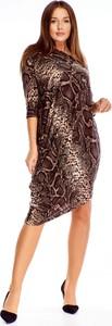 Sukienka Ptakmoda.com dla puszystych midi