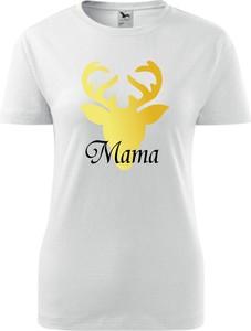 T-shirt TopKoszulki.pl w sportowym stylu w bożonarodzeniowy wzór z okrągłym dekoltem
