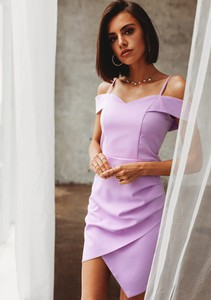 Sukienka Latika z krótkim rękawem ołówkowa midi