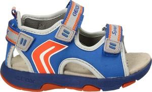 Niebieskie buty dziecięce letnie Geox z zamszu