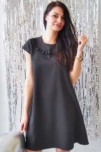 Czarna sukienka butik-choice.pl mini w stylu casual z krótkim rękawem