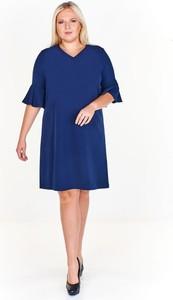 Sukienka Fokus z długim rękawem midi ołówkowa