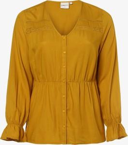 Żółta bluzka Junarose z długim rękawem z okrągłym dekoltem
