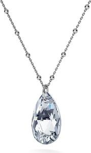 GIORRE ZŁOCONY NASZYJNIK Z KRYSZTAŁEM SWAROVSKIEGO - MIGDAŁ : Kolor kryształu SWAROVSKI - Crystal CAL, Kolor pokrycia srebra - Pokrycie Czarnym Rodem