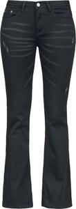 Czarne jeansy Black Premium By Emp w stylu retro z bawełny