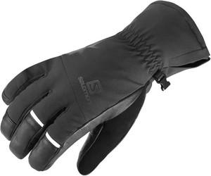 Czarne rękawiczki Salomon w sportowym stylu