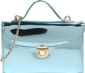 Niebieska torebka Mascara mała na ramię lakierowana