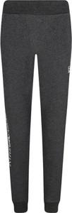 Czarne spodnie sportowe EA7 Emporio Armani z dresówki w sportowym stylu