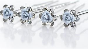 IZMAEL.eu Spinka do włosów Blue Crystal Flower