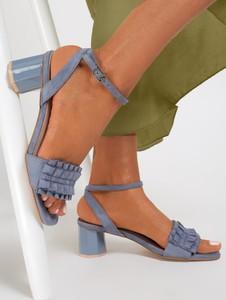 Sandały renee ze skóry ekologicznej