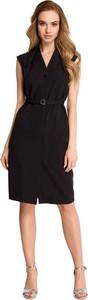 Czarna sukienka Style z tkaniny szmizjerka