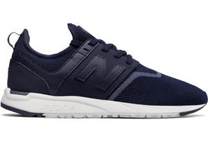 Niebieskie buty sportowe New Balance z płaską podeszwą sznurowane w sportowym stylu