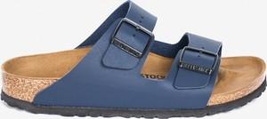 Niebieskie buty letnie męskie Birkenstock z klamrami