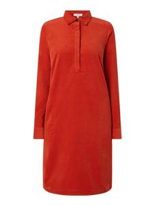 Czerwona sukienka Christian Berg Women w stylu casual z długim rękawem z kołnierzykiem