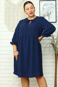 Sukienka KARKO mini z długim rękawem dla puszystych