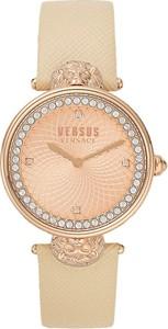 Versace Zegarek dla Kobiet Na Wyprzedaży, Beżowy, Skóra, 2019
