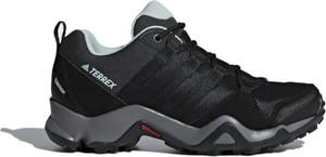 Czarne buty sportowe Adidas z zamszu w sportowym stylu sznurowane