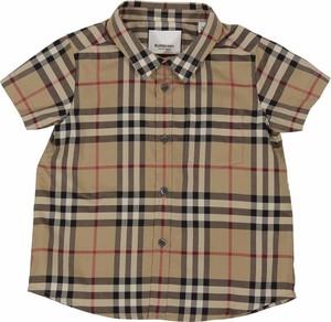 Brązowa koszula dziecięca Burberry z bawełny