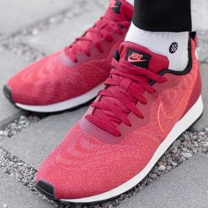 Różowe buty sportowe Nike ze skóry