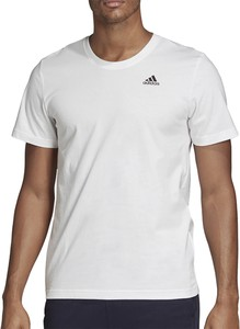 T-shirt Adidas z dzianiny w sportowym stylu z krótkim rękawem