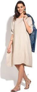 Sukienka Le Jardin Du Lin z długim rękawem midi