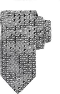 Krawat Moschino z jedwabiu