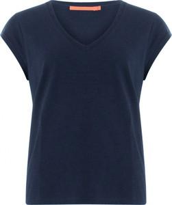 Niebieska bluzka Coster Copenhagen z bawełny z krótkim rękawem