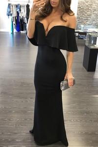 Elegrina długa sukienka carmita czarna