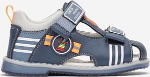 Granatowe buty dziecięce letnie Multu na rzepy
