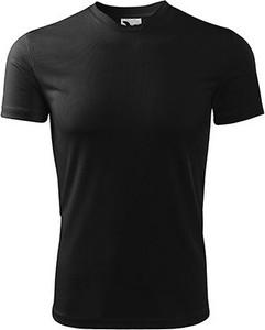 Czarna koszulka dziecięca Adler z krótkim rękawem