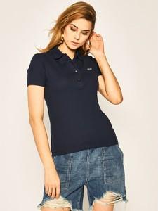Bluzka Lacoste z krótkim rękawem w stylu casual