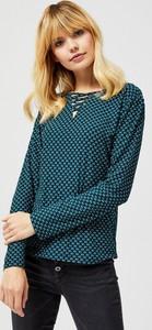 Zielona bluzka Moodo z długim rękawem