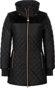 Czarna kurtka EA7 Emporio Armani długa w stylu casual