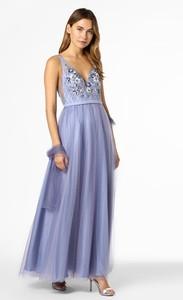 Niebieska sukienka Mascara z dekoltem w kształcie litery v bez rękawów