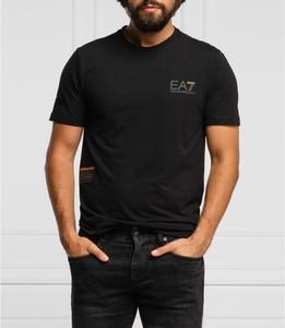 Czarny t-shirt Emporio Armani z bawełny w stylu casual z krótkim rękawem