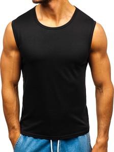Czarna koszulka Denley z bawełny w stylu casual bez rękawów