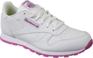Buty sportowe dziecięce Reebok sznurowane ze skóry
