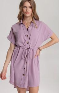 Sukienka Renee w stylu casual koszulowa z krótkim rękawem