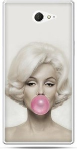 Etuistudio Sony Xperia M2 etui Marilyn Monroe guma do żucia