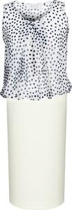 Sukienka Fokus koszulowa bez rękawów w stylu glamour