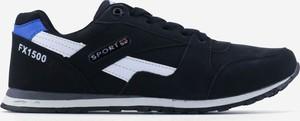 Czarne buty sportowe Yourshoes ze skóry ekologicznej
