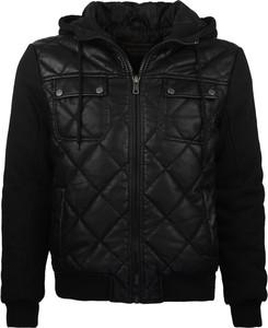 Czarna kurtka Glo-Story w młodzieżowym stylu ze skóry ekologicznej