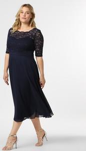 Sukienka Swing Curve z okrągłym dekoltem z długim rękawem dla puszystych