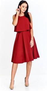 Sukienka Keyla z tkaniny rozkloszowana